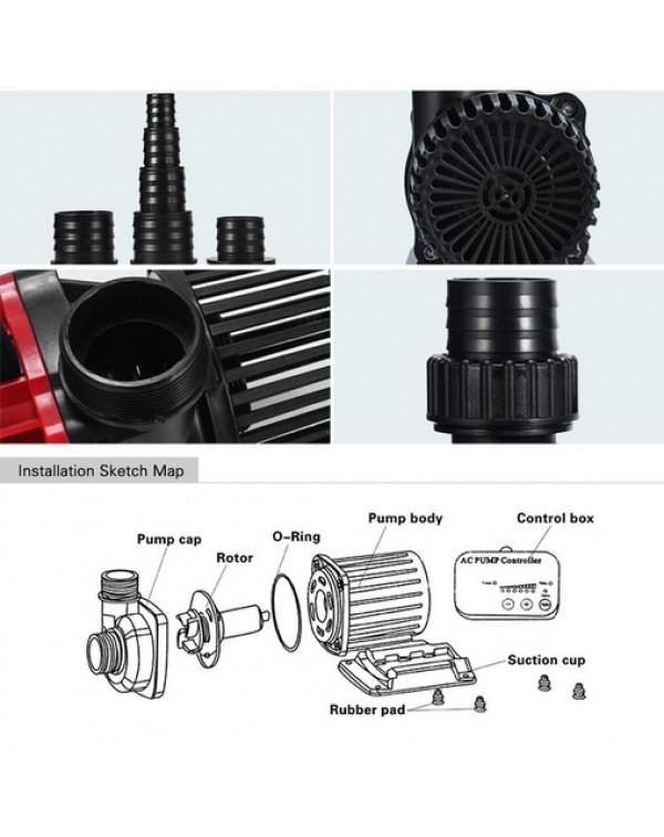 EnjoyRoyal ACP(631) 12000 - Adjustable pump for pond, pond, waterfall or fountain