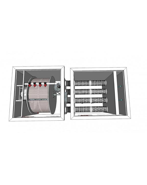 Red Label Moving Bed Filter 50/55 – biological filter with moving filter media