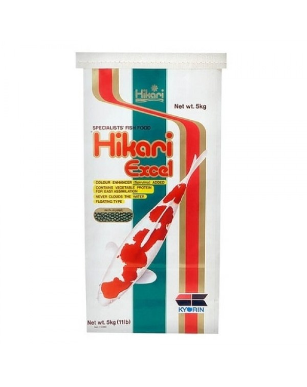 Hikari Excel  5 kg - koi feed for basic nutrition and colour enhancement