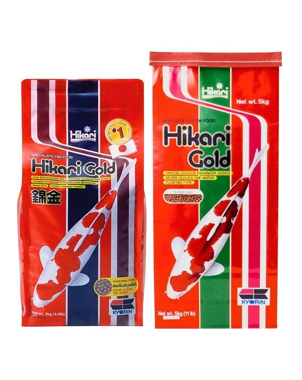 Hikari Gold 500g - koi feed for basic nutrition and colour enhancement