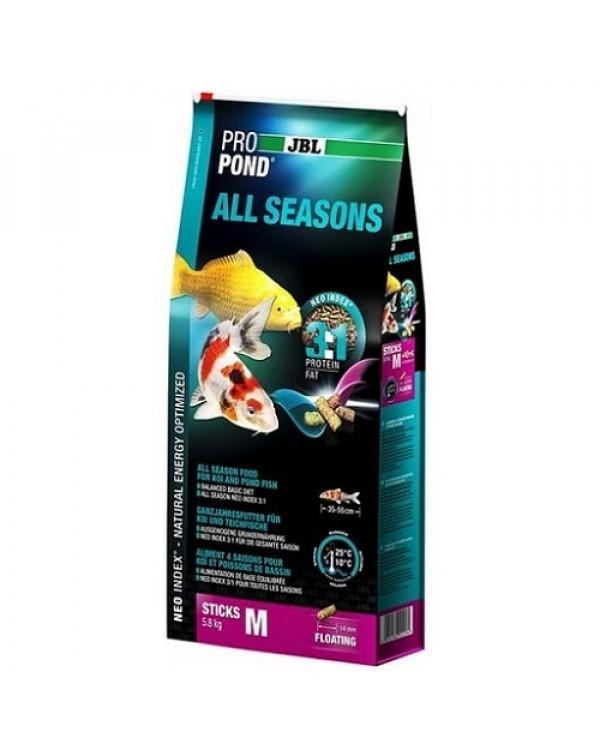 Корм для коі JBL ProPond All Seasons M (32 л / 5,8 кг)