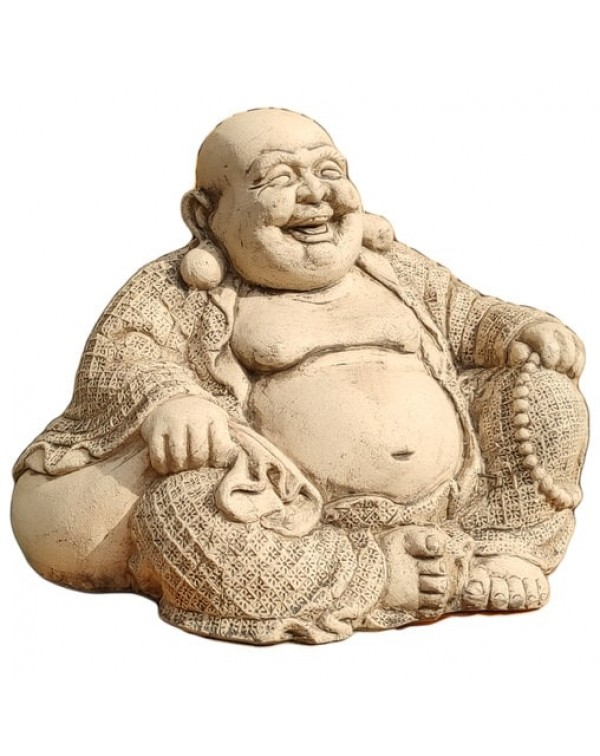 Ceramic sculpture, Hotei.