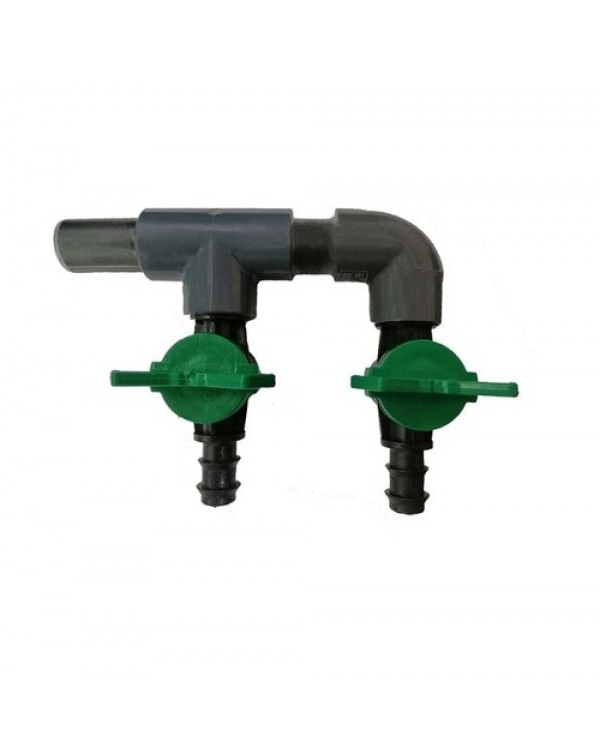 Compressor air distributor AquaKing - on 2 taps 16 mm (plastic)