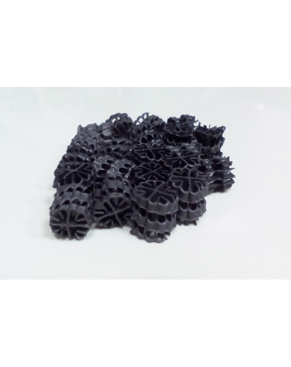 Hel-X HXF 12 KLL (100 liters) — floating filter media, black