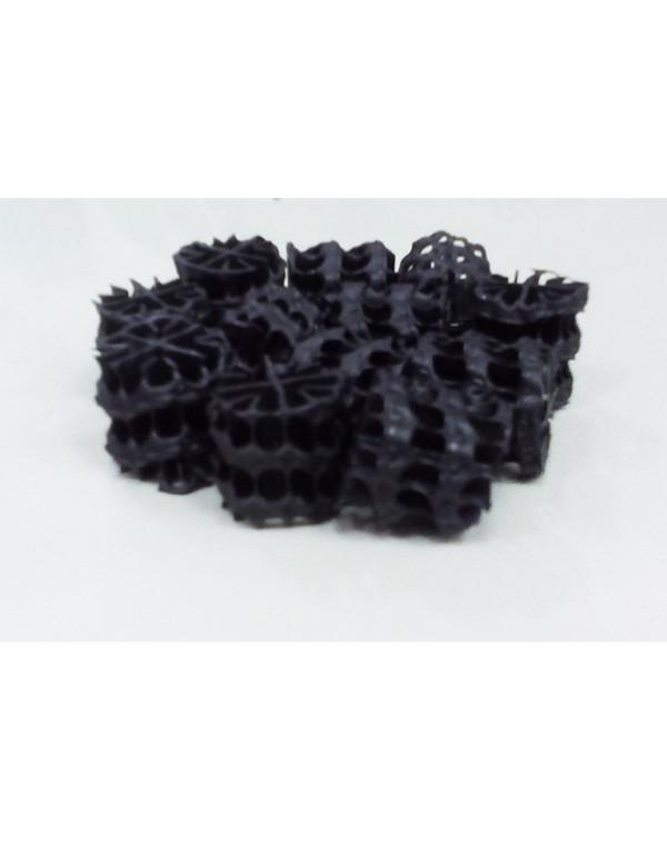 Hel-X HXF 14 KLL (100 liters) — floating filter media, black