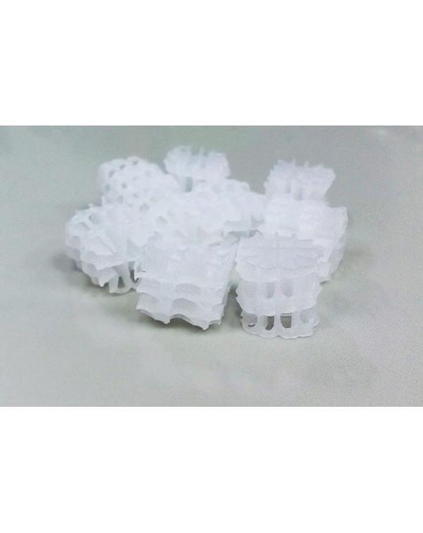 Hel-X HXF 14 KLL (100 liters) — floating filter media, white