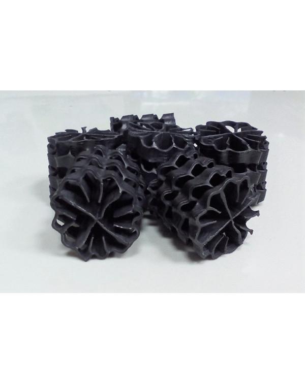 Hel-X HXF 25 KLL (100 liters) — floating filter media, black